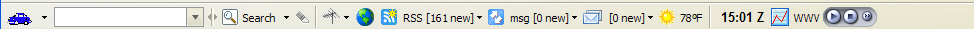 Firefox and IE ham radio toolbar